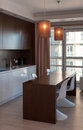 Kitchen interior hotel apartment modern detail in Stock Photos