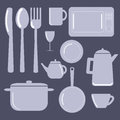 Kitchen Items – Vector illustration Royalty Free Stock Photo
