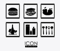 Kitchen items, desing, vector ilustration Royalty Free Stock Photo