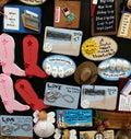Kitchen magnets fun Stock Image