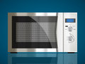 Kitchen microwave house appliance concept Royalty Free Stock Photos