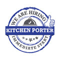 Kitchen porter , we are hiring - printable labled