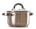 Kitchen pot  on white Royalty Free Stock Photos