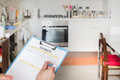 Kitchen renovation of domestic appliances estimate cost Royalty Free Stock Photo