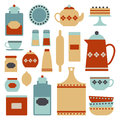 Kitchen set of vintage items Royalty Free Stock Photos