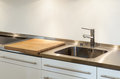 Kitchen sink interior new house detail Stock Photo