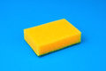 Kitchen sponge blue Royalty Free Stock Photo