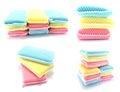 Kitchen sponge for washing dishes on white background Royalty Free Stock Photo