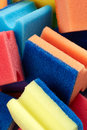 Kitchen sponges for washing dishes Royalty Free Stock Image