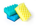 Kitchen sponges on a white background saved path Royalty Free Stock Photo