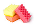 Kitchen sponges on a white background saved path Stock Photography