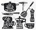 Kitchen symbol vintage lettering restaurant Royalty Free Stock Photo
