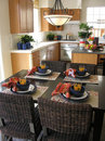 Kitchen Table (Focus on table) Stock Images