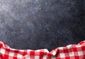 Kitchen table with towel Royalty Free Stock Photo