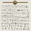 Kitchen Tool Icon Set And Food...
