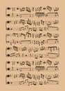 Kitchen Tools Music Score Back...