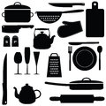 Kitchen tools set of illustration Stock Photography