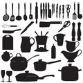 Kitchen tools Silhouette Vector illustration Royalty Free Stock Photo