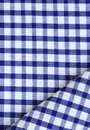 Kitchen towel in the blue checkered use as a background Royalty Free Stock Images
