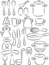 Kitchen utensil collection vector illustration of Stock Image