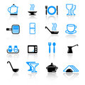 Kitchen utensil icons Royalty Free Stock Image