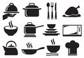 Kitchen Utensil Vector Icon Set Royalty Free Stock Photo