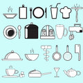 Kitchen utensils this is image of on blue background Royalty Free Stock Image