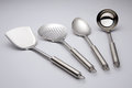 Kitchen utensils with plain background studio shot Stock Photography