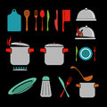 Kitchen vector icons set