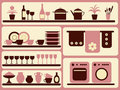 Kitchen ware and home objects set. Royalty Free Stock Photos