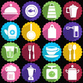 Kitchen ware icon set all for the house icons Royalty Free Stock Photo