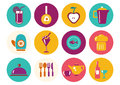 Kitchen ware icons Royalty Free Stock Photo