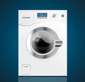 Kitchen washing machine house appliance concept Royalty Free Stock Photo