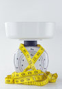 Kitchen Weigh Scale Royalty Free Stock Photo