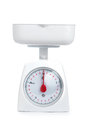 Kitchen weighing scale isolated on a white background Stock Photo