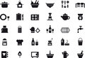 Kitchenware icon set Royalty Free Stock Photo