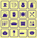 Kitchenware Icon Set (Vector) Stock Image