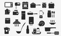 Kitchenware icons household appliances web sign Royalty Free Stock Photo