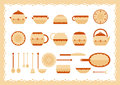 Kitchenware icons set Royalty Free Stock Photo