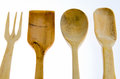 Kitchenware several made of boxwood Royalty Free Stock Photography