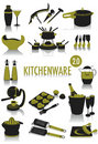 Kitchenware silhouettes Royalty Free Stock Photo