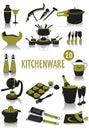 Kitchenware silhouettes Royalty Free Stock Photo
