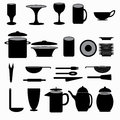 Kitchenware symbols collection vector illustration Royalty Free Stock Photo