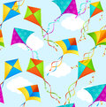 Kite Background Pattern. Vector Royalty Free Stock Photo