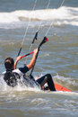 Kite boarder at sea Stock Image