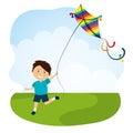Kite and childhood design.