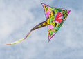 Kite colorful photographed in flight Stock Photography