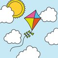 Kite drawing Stock Image