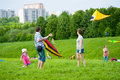 Kite festival moscow may unidentified people fly kites at the in the park tsaritsyno on may in moscow Royalty Free Stock Photos