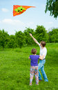 Kite festival moscow may unidentified people fly kites at the in the park tsaritsyno on may in moscow Royalty Free Stock Photo